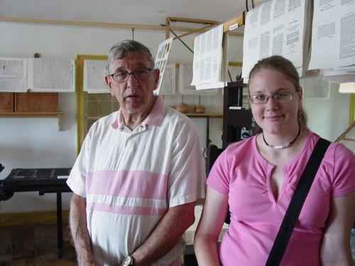 Don and Sarah at Print Shop - July 2006