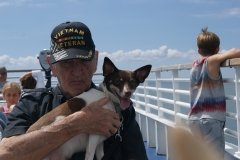 Don and Comet on a boat - January 2009