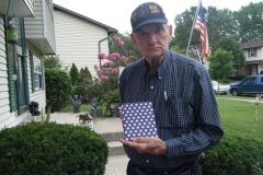 Don with the book he made - August 2012