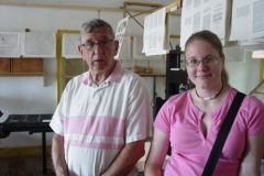 Don and Sarah at Print Shop - July 2006