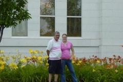 Don and Sarah at Temple Rear - July 2006