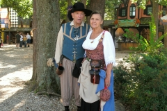 Don and Gay in Garb at MD Ren Fest - September 2008