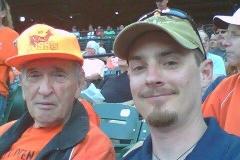 Ken Green and Don at Baysox game