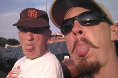 Ken Green and Don, sticking out tongues